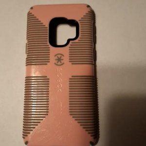 Used Speck Presidio Grip Samsung S9 case Pink/Gray